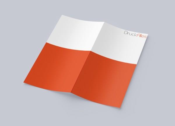 Faltblatt, gefalzt auf DIN A5, 4-seiter