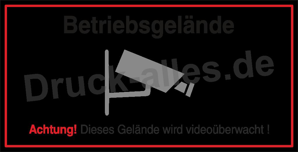 Bauzaunbanner Videoüberwacht Design5