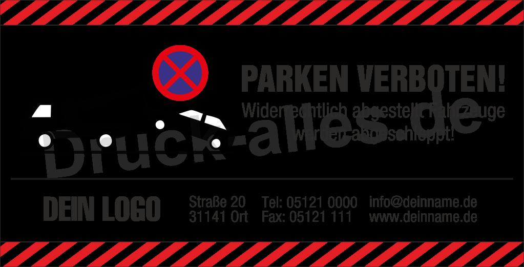 Bauzaunbanner Parken verboten Design6