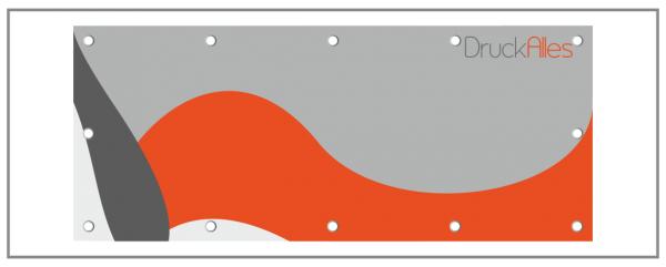 PVC-Banner mit Ösen