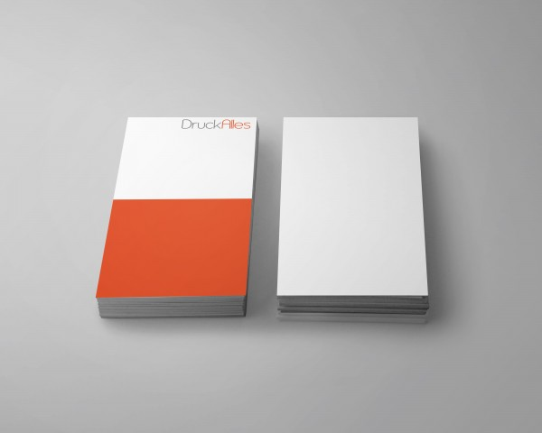 Visitenkarten hoch 55 x 85 mm einseitiger Druck mit einseitigem partiellem UV-Lack